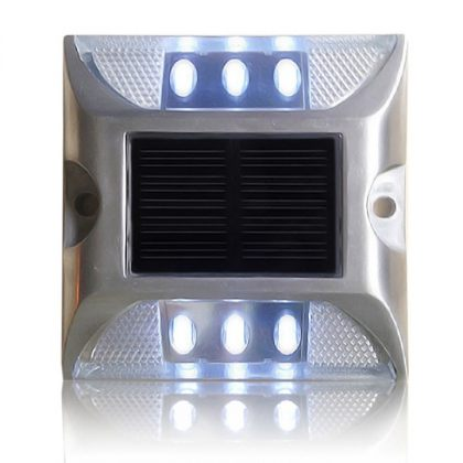 Durable Solar Traffic Lights Outdoor Stud Road Safety Markers 6 LED