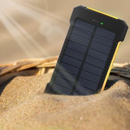 Dual USB Solar Power Bank 10000mAh Universal Battery Charger Torch