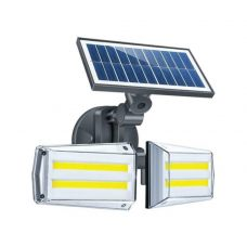 Bright 20W Dual Twin Head Solar Sensor Security Wall Light 80 COB LED