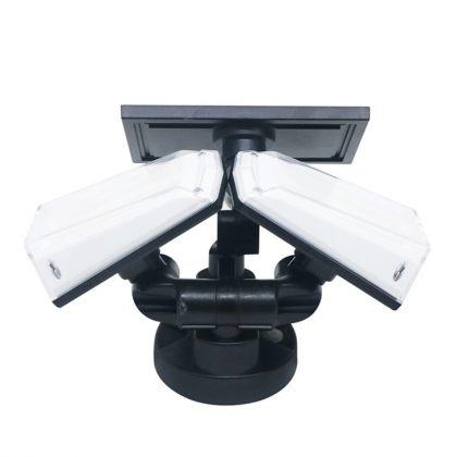 Bright 20W Dual Twin Head Solar Sensor Security Wall Light 80 COB LED