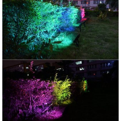 Solar Garden Flood Light RGB Colours Landscape Decoration With Remote