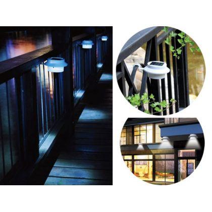 Outdoor 3 LED solar light for garden fence
