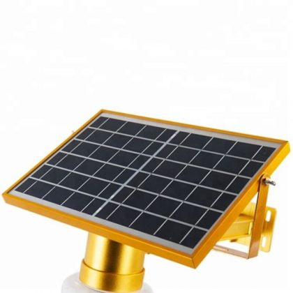 Elegant Outdoor 15W LED Solar Wall Garden Light With Remote Control