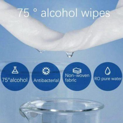 FREE Antibacterial Wipes 75% Alcohol Hand Sanitiser Swab Individual