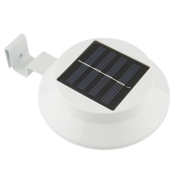 Solar Outdoor Light Fence Garden Gutter Roof Wall Pathway 3 LED Lamp