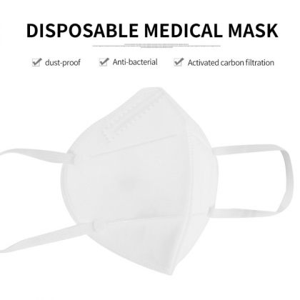Free Medical Disposable Mask KN95 White High Filtration Technology Kit