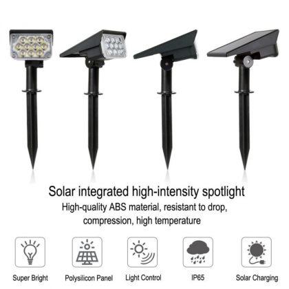 Bright 20 LED Solar Path Spot Light for Garden Landscape Decoration