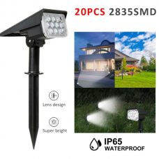 Bright 20 LED Solar Path Spot Light for Garden Landscape Decoration