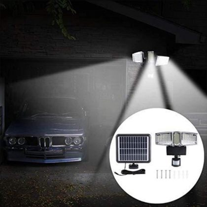 Three Head Super Bright 178 LED Solar Security Wall Light with PIR Motion Sensor
