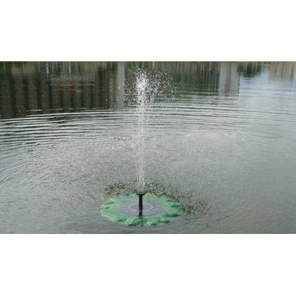Floating Lotus Leaf Solar Water Pump Fountain Garden Pond Decoration