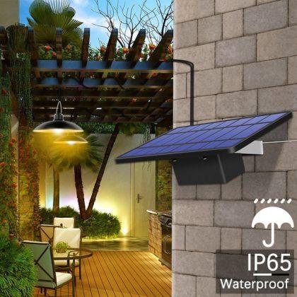 Retro Solar Shed Light Hanging garden Lamp For Indoor Outdoor Lighting