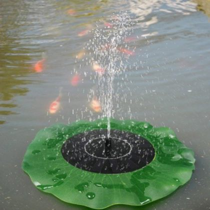 Floating Lotus Leaf Solar Water Pump Fountain Garden Pond Decoration