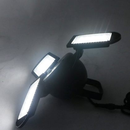 Solar Garden Ceiling Light 60 LED Three Adjustable Lamps With Remote