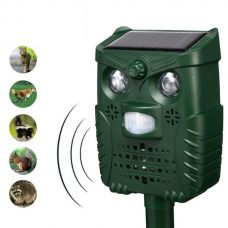 Universal Ultrasonic Solar Birds Animal Repeller PIR Sensor LED Light