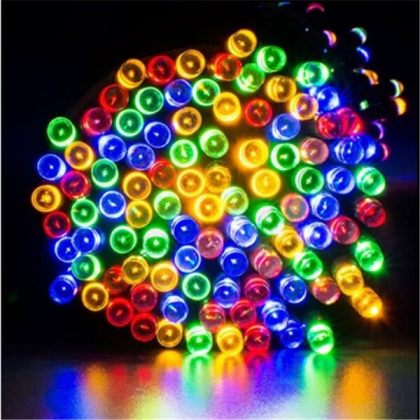 Outdoor Solar String Light Bright 100 200 300 LED Fairy Garden Garland