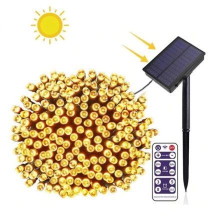 Outdoor Bright Solar Fairy Lights String 500 LED With Remote Control