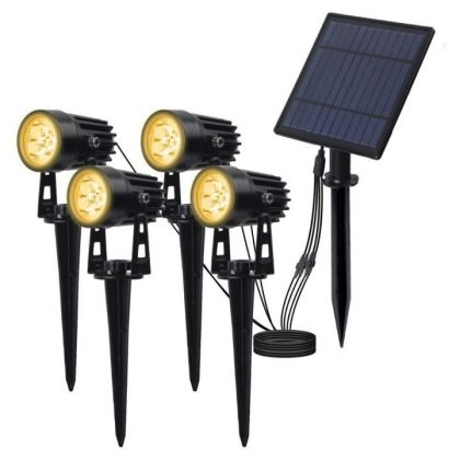 Outdoor Solar Spot Light 4-in-1 LED Garden Lawn Landscape Decoration