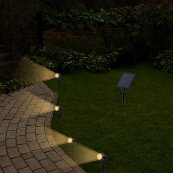 Outdoor Solar Spot Light 4 In 1 Led, Outdoor Spot Lights Garden