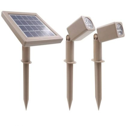 Solar Powered LED Spotlight 3W Outdoor Garden Landscape Decoration