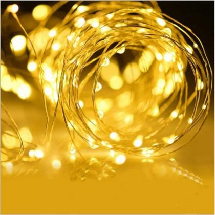 Copper Wire Solar Fairy Lights LED String Bright Christmas Decoration