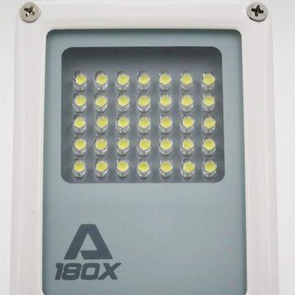 Compact Solar Flood Light 35 LED Durable Metal Security Garden Lamp