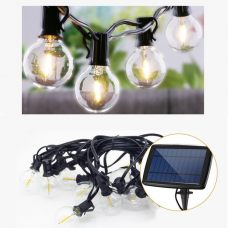 Outdoor Solar Fairy Lights Bright Classic LED Bulbs String Garland
