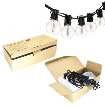 Outdoor Solar Fairy Lights Bright Classic LED Bulbs String Garland