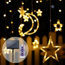 Solar Christmas String Lights LED Stars Outdoor Garland Decoration