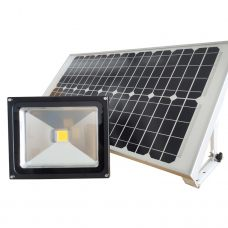 Powerful 30W Solar Flood Light Commercial Grade Outdoor COB LED Light