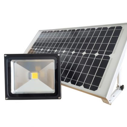 Powerful 30W Solar Flood Light Commercial Grade Outdoor COB LED Light