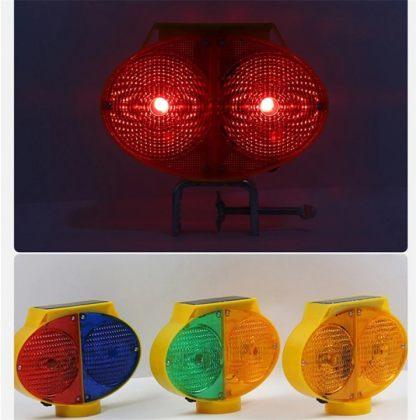 Owl Eye Solar Warning Traffic Light LED Road Construction Safety Lamp