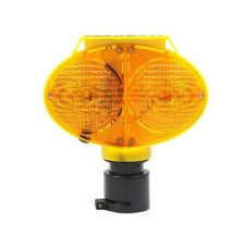 Owl Eye Solar Warning Traffic Light LED Road Construction Safety Lamp