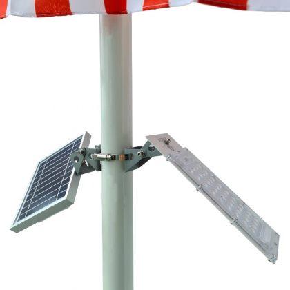 Ultra-Bright 36 LED Solar Flagpole Flood Light Outdoor Pole Setup Kit