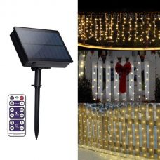 Solar Icicle Lights LED Curtain Christmas Decoration String Garland
