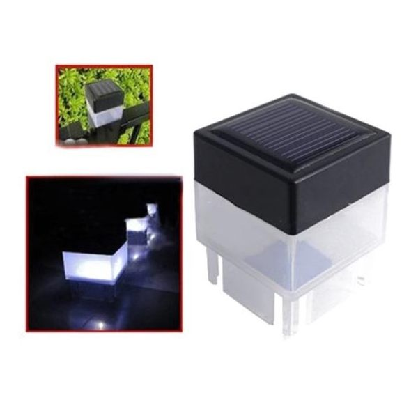 Solar Fence Post Cap LED Light Outdoor Lamp