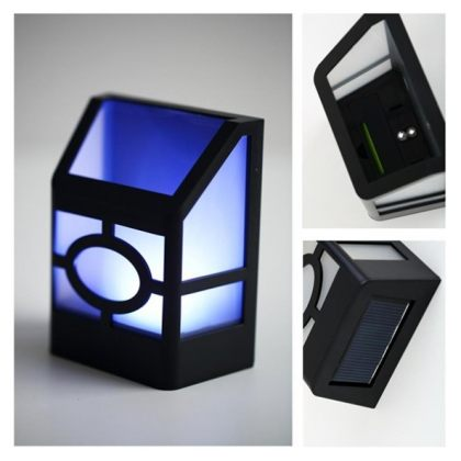 2 LED Solar Wall lights for outdoor fence, garden or backyard