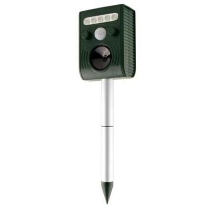 Solar Ultrasonic Animal Repeller PIR LED Light