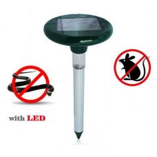 Solar Sonic Pest Repeller with LED Light