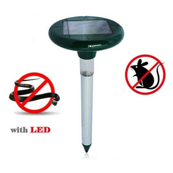 Solar Sonic Pest Snake Repeller with LED Light