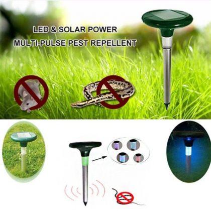 Solar Sonic Pest Snake Repeller with LED Light