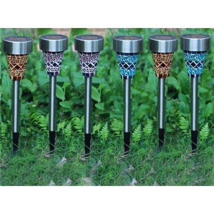 Solar garden light mosaic Stake LED Light Lawn Decoration Lamp
