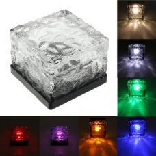 Colorful Solar Pathway Brick LED Light Waterproof Floating Floor Lamp