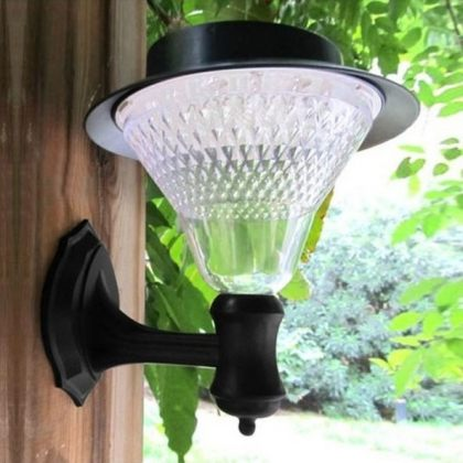 Outdoor Decorative Elegant Bright Solar Wall 16 LED Lamp