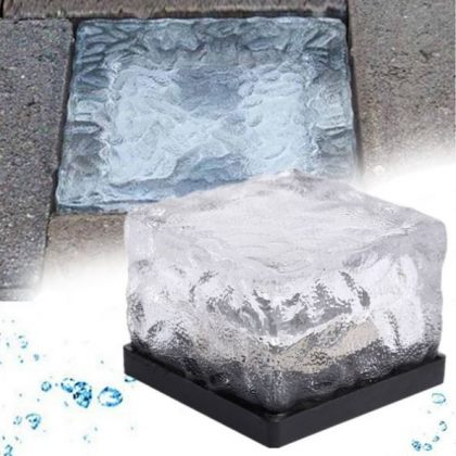 Color-Changing Solar Ice Block LED Light Outdoor Pathway Decoration