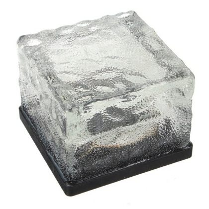 Crystal Glass White LED Light Ground Pathway Brick Design