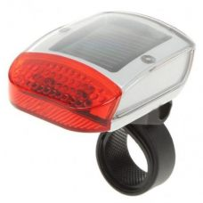 Solar Bike Warning Alert Red LED Tail Light 3 Modes
